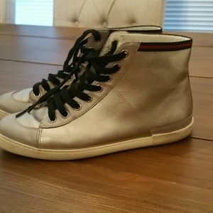 Gucci monogram high top sneaker